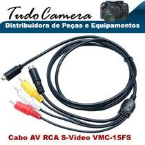 Cabo Av Rca S-video 15fs Filmadora Sony Dcr- Dvd608 Dvd610
