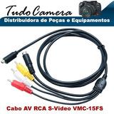 Cabo Av Rca S-video 15fs Filmadora Sony Dcr- Sr220 Sr290