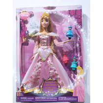 Aurora La Bella Durmiente Muñeca Vestido Luminoso (nueva)
