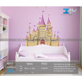 Vinilo Decorativo Infantil Castillo-i 04. Sticker Princesas