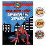 Kit Imprimible Hombre Araña Spiderman Cumpleaños Candy Bar