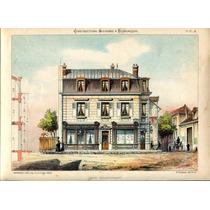 Lienzo Tela Plano Cafe Restaurante Francia 1830 70 X 50 Cm