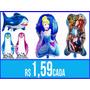 Balão Metalizado Personagens Festa Infantil + De 50 Modelos