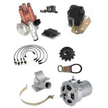 Kit Alternador 75ah+ignição Eletr+cabo Vela Fusca Kombi Bras