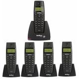 Telefone Sem Fio Com 4 Ramais, Bina Intelbras Garantia 1 Ano
