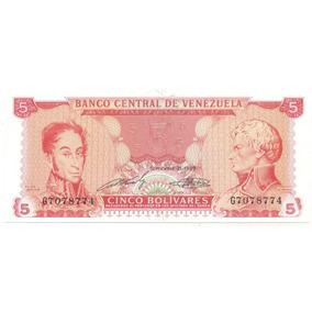 Billete De 5 Bolívares Septiembre 21 De 1989 Serial G7