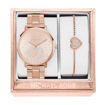Relógio Mk3621 Jaryn Gold Rosé Anal Pink Swarovski & Bracelt
