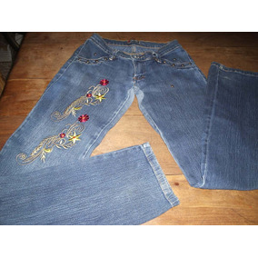 Calça Jeans Bordada Tamanho 38