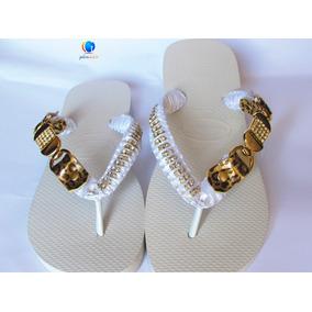 Havaianas Personalizadas Bordadas. Sandálias Strass Original