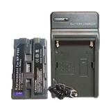 Kit Bateria Np-f970 + Carregador Gratis P Sony Hd1000 Mc2000