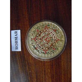 Robmar-calendario Azteca-maya Bañada Oro 24 K. En Capsula