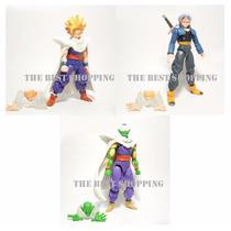 Set 3 Figuras Dragon Ball Z Articulada Gohan Trunks Picoro