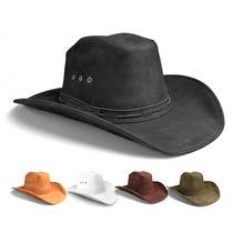 Chapeu Country Couro Preto Boiadeiro Cowboy Rodeio Americano