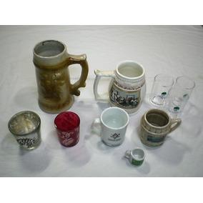 Lote 10 Canecas Copos Decorativos Porcelana Vidro Acrilico