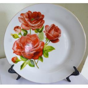 *1023*prato De Sobremesa Com Rosas Vermelhas
