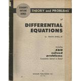 Ecuaciones Diferenciales. Frank Ayres. Schaum. En Inglés.