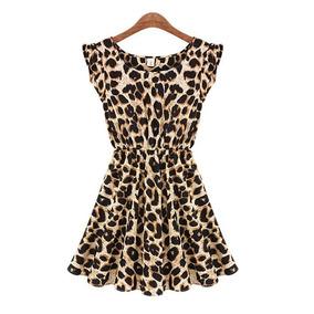 Vestido Vintage Estampa De Oncinha Onca M