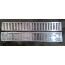Grelha Agua Aluminio C/ Porta Grelha 1mtx15cm
