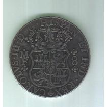 Moeda Mexico 8 Reales 1765 Colunario-mf Prata