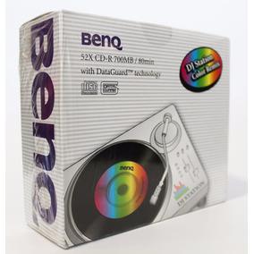 Caja Con 10 Cds Vírgenes En Slim Case Benq Bnqdjs10