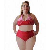 Sunquini Patchwork Vermelho Tam 48 Ao 56 Moda Plus Size