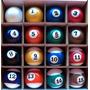 Bolas Numeradas 50mm Faixas Importadas Bilhar Sinuca Snooker