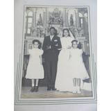 Foto Antiga Casamento - Casal Com Daminhas