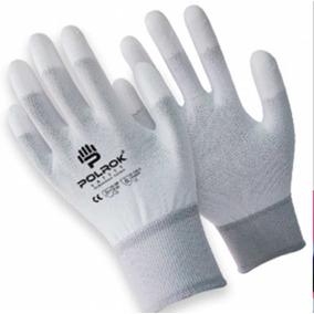 Guante Antiestatico Nylon Blanco Con Poliuretano En Dedos