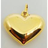 Decolar Joias Pingente Coração Em Ouro 18k - 1 Grama