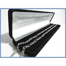 Elegante Cadena Plata Solida Mod. Cartier De 4mm 16grs Acc