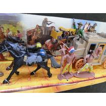 Cenario Display Forte Apache Diligencia Carroça Indio Cowboy