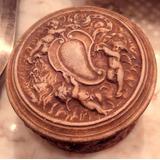 Antigua Caja Gres Europeo De Colección