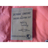 Caterpillar Motor D17000 Y Diesel Manual Despiece Tractor