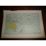 Oceania Antiguo Mapa 1939 Confederacion Australia