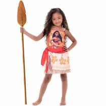 Fantasia Moana Infantil Original Disney Pronta Entrega