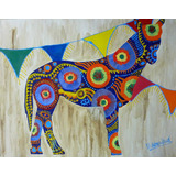Cuadro A Mano Deco Caballo Color Alegría Arte Pintura