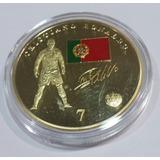 Super Ganga,medalla Cristiano En El Madrid, Acabado En Oro