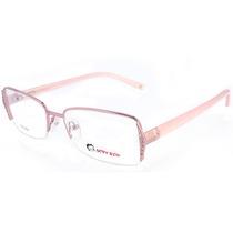 Óculos De Grau Feminino Armação Em Metal Com Strass
