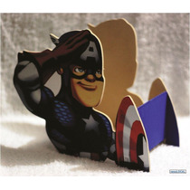 Centros De Mesa Capitan America Cajas Madera Avengers