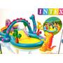 Piscina Inflável Playground Dinossauros Intex
