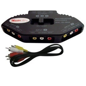 Selector De Audio / Video Para Dvd, Vcd, Vcr, Video Juegos