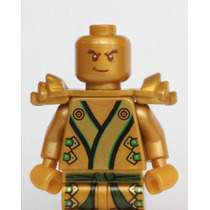 Tb Lego Ninjago - The Gold Ninja With 3 Weapons