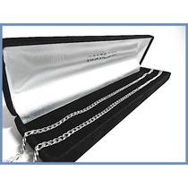 Elegante Cadena En Plata Solida Mod. Barbad De 4mm 18grs Acc