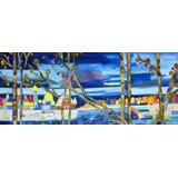 Cuadro Arte Original A Mano Paisaje Rusia Pintura Clasico