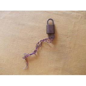Antiguo Candado Bronce Browi Ind. Arg. Med. (2x2,2)cm