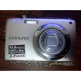 Camara Digital Nikon Coolpix S3000 Como Nueva+cargador Pared