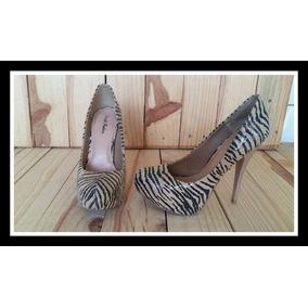 Sapato Scarpin Feminino Boneca Meia Pata Usado 1x Zebra