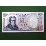 Billete Chileno 1000 Escudos Periodo 1962-1975