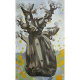 Arte Cuadro Pintura Árbol Africano Baobab Paleta Paz Pintura