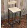 Cadeira De Ferro Envelhecido